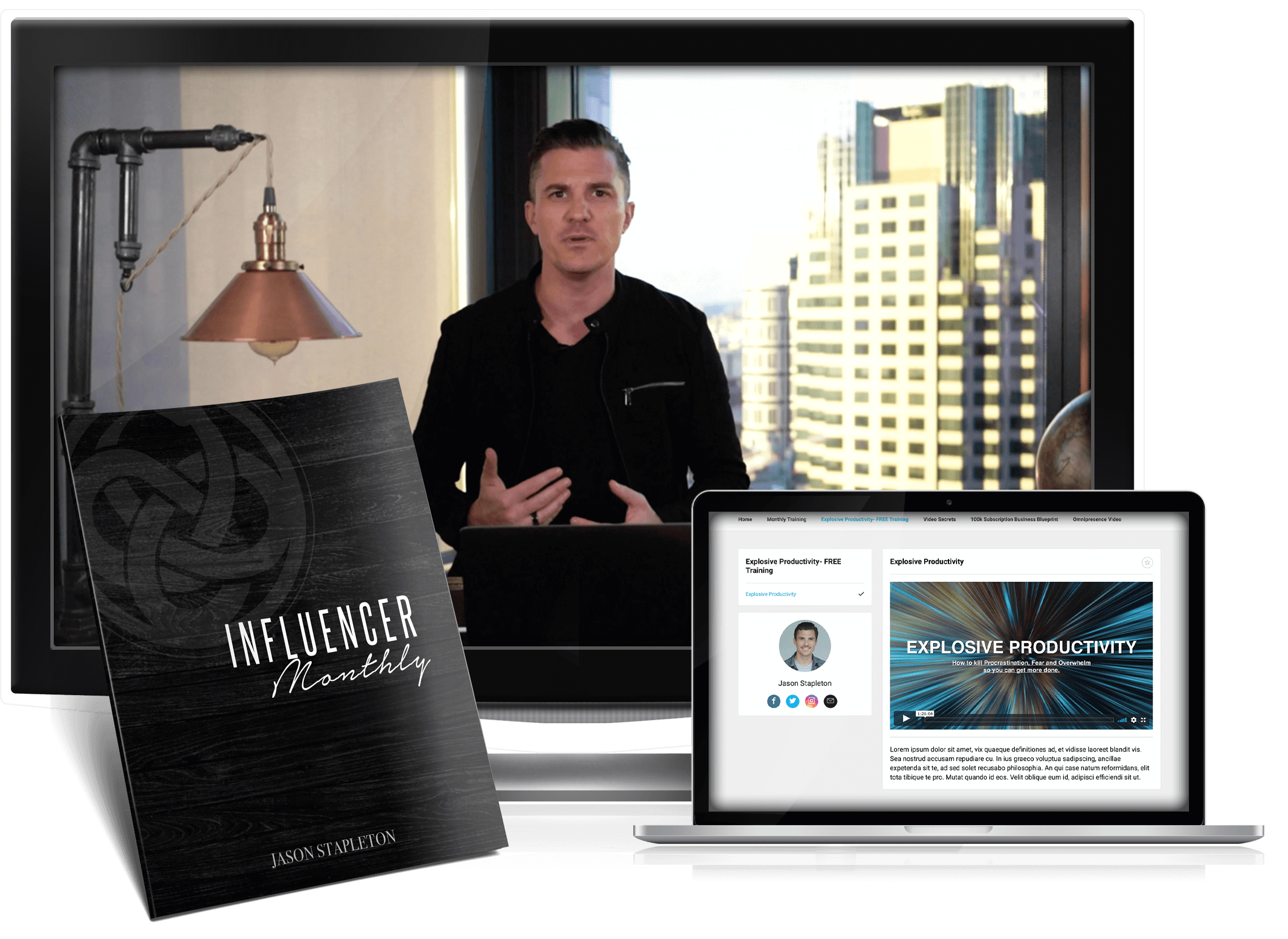 Influencer Monthly Mockup